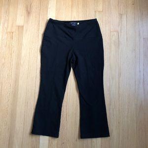 Lysse Black Split Calf Cropped Leggings Size L